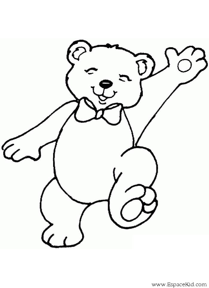 Coloriage petit ours heureux imprimer dans les - Ours a dessiner ...