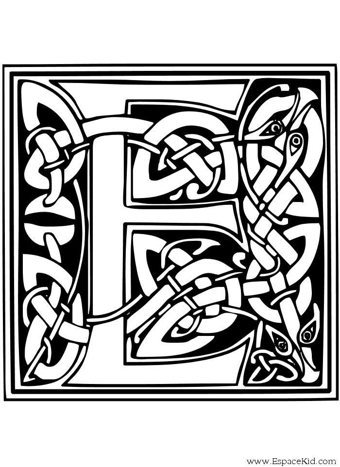 Coloriage Lettre E à Imprimer Dans Les Coloriages Lettrine
