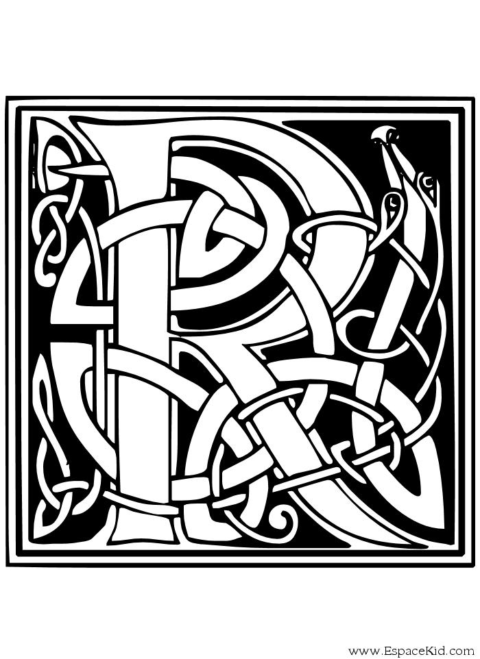 Coloriage Lettre R à Imprimer Dans Les Coloriages Lettrine