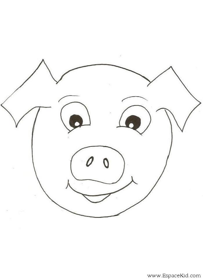 Coloriage Masque Cochon A Imprimer A Imprimer Dans Les Coloriages Masque Dessin A Imprimer