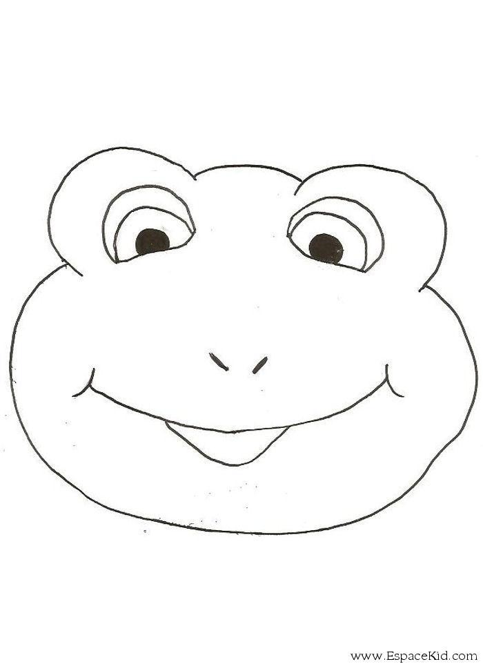 Masque grenouille imprimer dans les coloriages dessin - Coloriage de grenouille ...