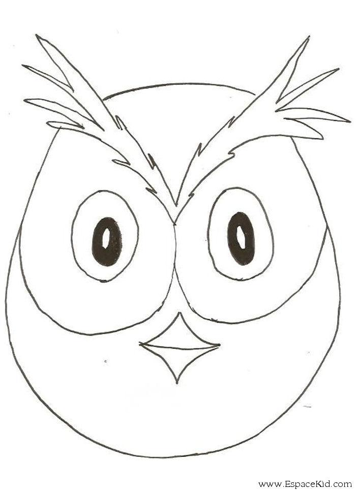 Coloriage masque hiboux imprimer dans les coloriages - Masque oiseau a imprimer ...