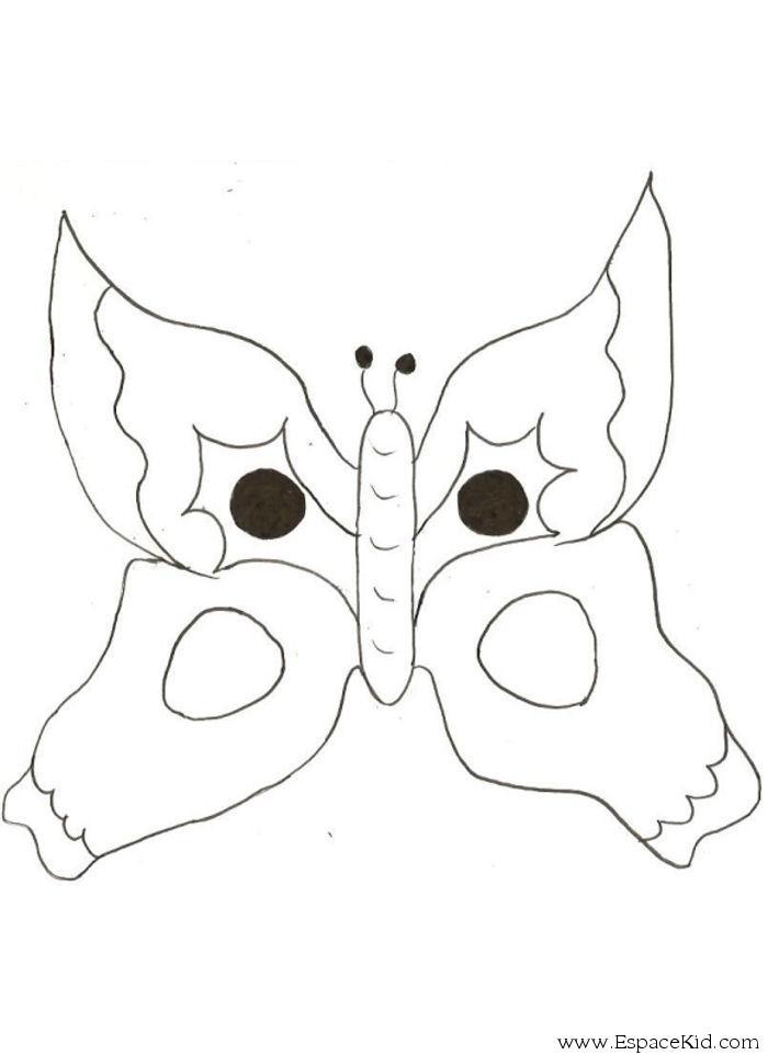 Coloriage masque carnaval papillon coloriages - Masque papillon carnaval ...
