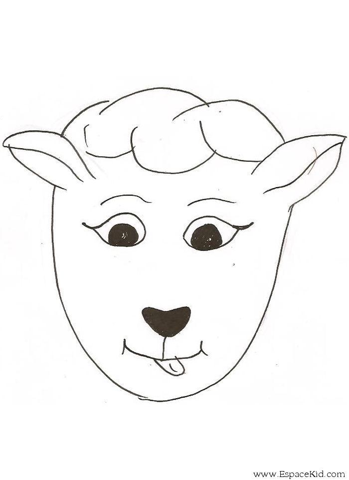 Coloriage Masque Mouton à Imprimer Dans Les Coloriages