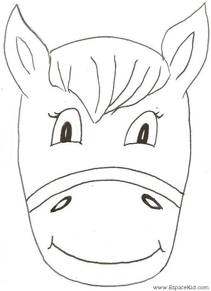Coloriage masque cheval imprimer dans les coloriages masque dessin imprimer - Coloriage masque a imprimer ...
