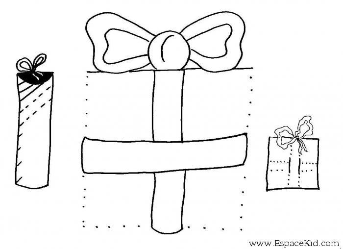 Pin coloriage les cadeaux on pinterest - Dessins cadeaux ...